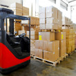 Stock Photo: Forklift warehouse