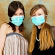 Girls with masks — Stock Photo