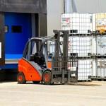 Forklift vehicle — Stock Photo #4636444