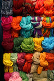 Scarves display — Stock Photo