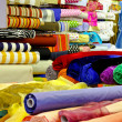 Stock Photo: Fabric rolls