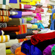 Textile rolls warehouse — Stock Photo
