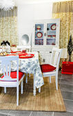 Festive dining table — Stock Photo