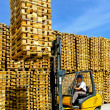 Forklift cargo — Stock Photo