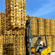 Royalty-Free Stock Photo: Forklift cargo