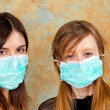 Bird flu mask — Stock Photo