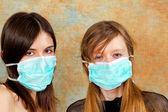 Máscara de gripe de pájaro — Foto de Stock