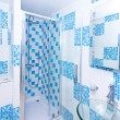 Blue bathroom 2 — Stock Photo