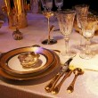 Royalty-Free Stock Photo: Golden tableware