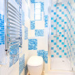 Stock Photo: Blue lavatory