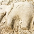 Stock Photo: Sand elephant 2