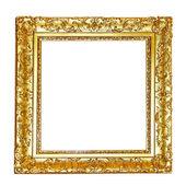 Gouden bloemen frame — Stockfoto