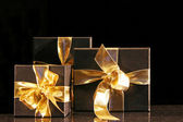 Golden present — Stock Photo