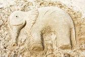 Sand elefant — Stockfoto