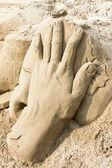 Sand hand — Stock Photo