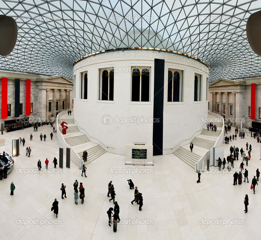 High resolution shot of great hall in British museum — Stock Photo #4877971