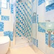 Blue lavatory 2 — Stock Photo