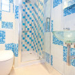 Stock Photo: Blue lavatory 2