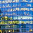 Blue office windows — Stock Photo