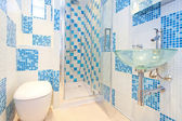 Blaue toilette 2 — Stockfoto