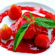Panna cotta strawberry — Stock Photo #4922950
