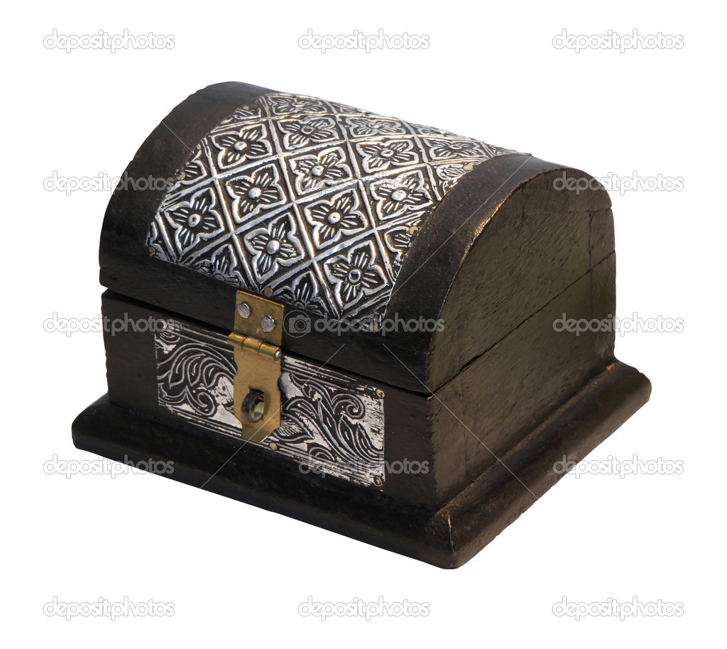 Decorative antique chest isolated with clipping path included  Stock Photo #4922913