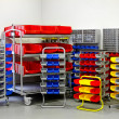 Stock Photo: Colourful shelf assortment