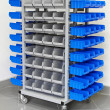 Stock Photo: Garage shelves trolley