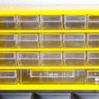 Yellow shelf — Stock Photo