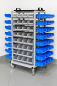 Garage shelves trolley — Stock Photo