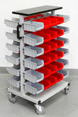 Storage organizer cart — Stock Photo
