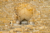 Great pyramid entrance — Stock Photo