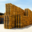 Stock Photo: Logistic pallets