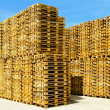Stock Photo: Pallets wall