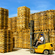 Stock Photo: Load forklift