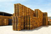 Logistic pallets — Stock Photo