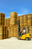 Load forklift — Stock Photo