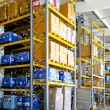 Stock Photo: Chemical storehouse