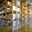 Warehouse shelves — Stock Photo