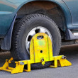 Wheel clamp — Foto Stock