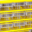 Yellow shelf pattern - Stock Photo