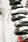 Snow parking — Stock Photo