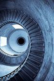 Spirala niebieski — Zdjęcie stockowe