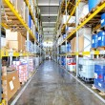 Warehouse corridor — Stock Photo