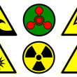 Hazard signs set 2 — Stock Photo #5286059