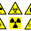 Hazard signs set 1 — Stock Photo #5286060