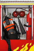 Fire fighter equipment — Stock Photo