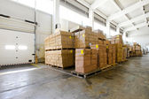 Storehouse boxes — Stock Photo