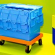 Transport box - Stock Photo
