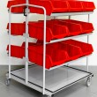 Stock Photo: Supply red cart